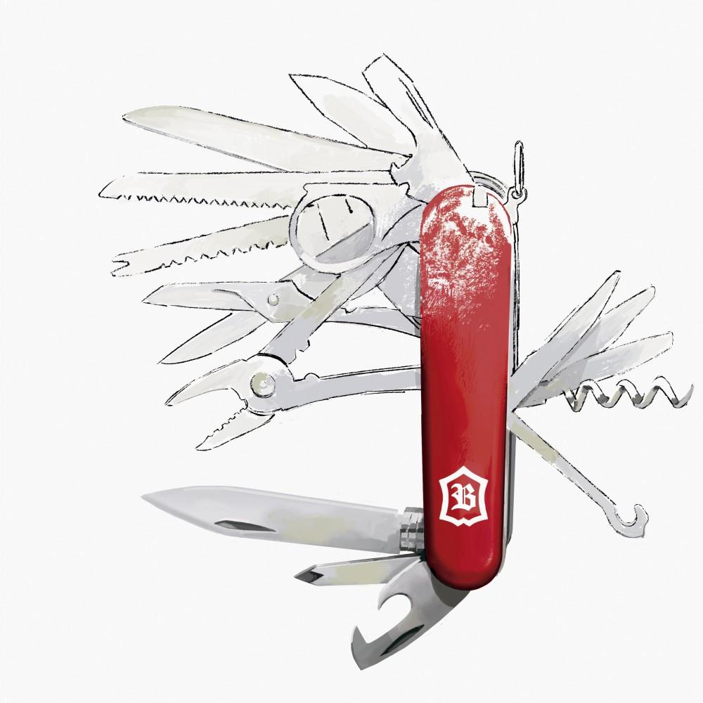 Ilustración de navaja suiza